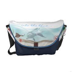 Into the Blue Rickshaw Messenger Bag
