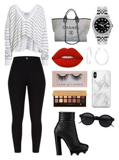 """""""Untitled #36"""" by judymoreno on Polyvore featuring Wildfox, Christian Louboutin, Chanel, Rolex, Lime Crime, Anastasia Beverly Hills and Recover"""