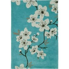 more details on Chiyo Blossom Rug - - Duck Egg. Childrens Rugs, Japanese Interior Design, Rugs And Mats, Border Rugs, Buy Rugs, Hallway Rug, Round Rugs, Argos, Rugs In Living Room