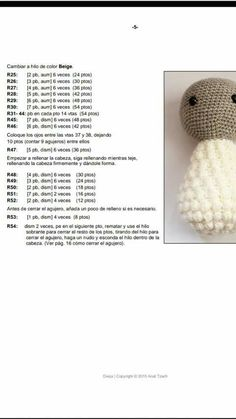Issuu is a digital publishing platform that makes it simple to publish magazines catalogs newspapers books and more online easily share – Artofit Crochet Sheep, Crochet Home, Cute Crochet, Crochet Dolls Free Patterns, Crochet Flower Patterns, Pattern Images, Sewing Basics, Learn To Crochet, Amigurumi Doll