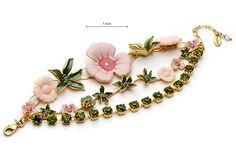 coomi jewelry neiman marcus | Pilgrim Danish Design • Swarovski Crystal Enamel Big Pink Flower ...