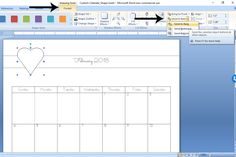 How to Create a Custom Calendar in Word - Calyx & Corolla Custom Calendar, Diy Calendar, Organizing Paperwork, Organization, Create A Calendar, Drawing Tools, Time Management, 3 D, Words