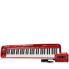 Behringer U-Control USB/MIDI Controller Keyboard with USB/Audio Interface (also has built-in sounds) Best Piano Keyboard, Midi Keyboard, Best Gifts For Her, Gifts For New Moms, Usb, Digital Piano, Instruments, Audio, Christmas Ideas