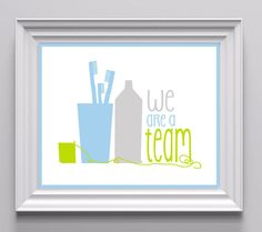 Art for the Bathroom / Dental Hygiene Art for Children
