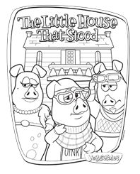 Free Coloring page featuring The Little House That Stood! #VeggieTales # Coloring Page