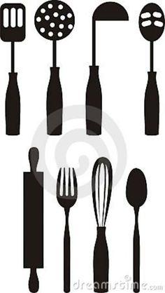 Kitchen Utensils Silhouette Vector Free kitchen utensils silhouette vector more kitchen silhouette ideas