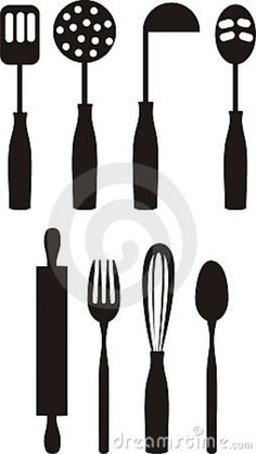 Free Printable Kitchen Clip Art | Kitchen Utensils Clip Art Royalty Free Stock » Cooking Utensils Clip ...