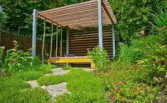 Naše práce   Flera Land Scape, Peru, Pergola, Studios, Outdoor Structures, Cabin, House Styles, Places, Garden
