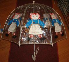 Vintage Raggedy Ann Andy Umbrella