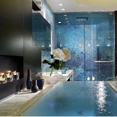 I would love to take a bath here  #Ilove #take #abath #bath #design #home #homeinspo #bathinspo #bathdesign #bathroom #bathroominspo #inspiratione #homedesign #blue #water #spa #cosy #by #your #self