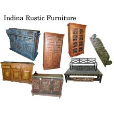 """""""Indian Rustic Furniture"""" by mogulinteriordesigns on Polyvore"""