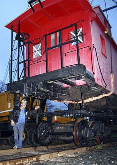 """Nov 9, 2010 - """"New caboose lands at Northwest Railway Museum. Workers with Snoqualmie-based Imhoff Crane Service lowered a nearly 120-year-old wooden caboose onto rails Friday, Nov. 5, near the Northwest Railway Museum in Snoqualmie."""" Snoqualmie Valley Record"""