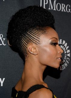 20 Great Hairstyles for Black Women: Actress Yaya DaCosta Braided Hairstyles For Black Women, Cool Braid Hairstyles, African Braids Hairstyles, Great Hairstyles, Winter Hairstyles, Black Hairstyles, 60s Hairstyles, Hairstyle Braid, Braid Ponytail