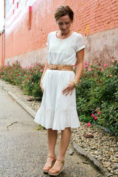 How to lengthen a short dress with a ruffle