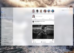 Today I will be uploading a speed art of the creation of this @facebook redesign for the new @windows Fluent Design System. #MadeWithAdobeXD @adobe