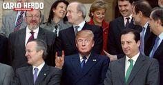 #donaldtrump, silvio #berlusconi, corna, #meme, milan, forza italia, #satira, #fotomontaggi divertenti, politica, #ironia