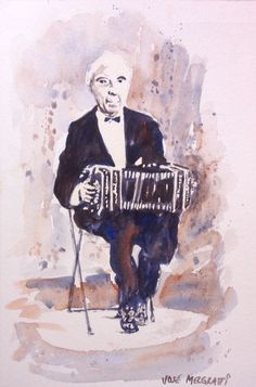 """El Maestro"" Watercolor Original Painting, 6"" X 9"" NOT A PRINT #Realism"