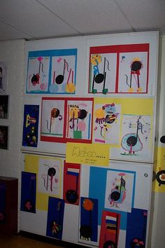 Music notes turned into art Activities For Kids, Crafts For Kids, Diy Crafts, I Love School, Wolf, Music For Kids, Music Notes, Musical Instruments, Art Lessons