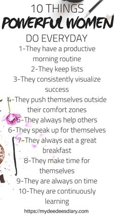 Daily Habits Of All Powerful Women! 10 daily habits that powerful women do every day! Take these steps to better yourself everyday! Successful Women Quotes, Habits Of Successful People, Being Successful, Business Women Quotes, Women In Business, Business Woman Successful, Business Ideas, Positive Quotes, Motivational Quotes