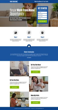 work from home opportunity small lead form responsive landing page design Work From Home Opportunities, Work From Home Jobs, Web Layout, Layout Design, Web Design Trends, Design Ideas, Insurance Website, Job Website, Cash From Home