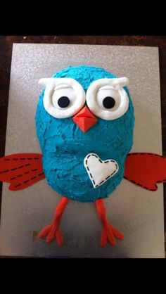 Simple Giggle and hoot cake Harry Birthday, Leo Birthday, 2 Birthday Cake, Birthday Parties, Birthday Ideas, Cakes For Boys, Cake Kids, Alba, Cake Tutorial