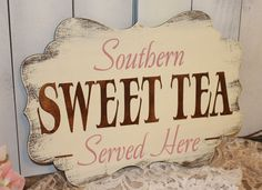 SWEET TEA Sign//Photo Prop/Southern/ Served by gingerbreadromantic, $29.95