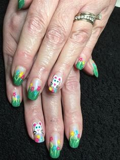 Easter Bunny Nails  by Isha from Nail Art Gallery