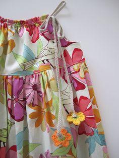 Girls Summer Dress-Flowers and Birds