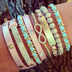 pastels and sparkleee!