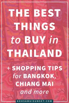 The Best Things to Buy in Thailand: Where, What + How to Shop – Ready to shop? Thailand has designer goods, silks, antiques, snacks, souvenirs – and $2 T-shirts galore. Here are the best things to buy in Thailand...| Click through to read more:
