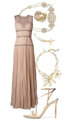 Ancient Princess #13 by alicepardus on Polyvore featuring polyvore, mode, style, Alexander McQueen, Gianvito Rossi, Oscar de la Renta, Serena Fox, Ross-Simons, Jennifer Behr, fashion and clothing