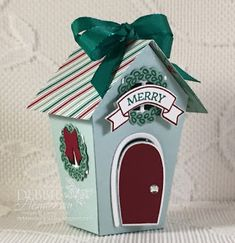 Stampin' Up! Cozy Critters, Holly Jolly, Santa's Sleigh and the Sweet Home stamp  sets and the Home Sweet Home Thinlits Dies for my two projects for the International Blog Hop Highlight. Debbie Henderson, Debbie's Designs.