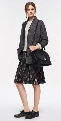 MAX&Co. AW 2015 - Blazer DEDURRE / Sweater DOVIZIA / Skirt PERU / Satchel Bag AGENDA / Shoes ALICE