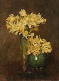Sir George Clausen R.A. (1852-1944) - Daffodils