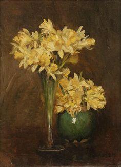 Sir George Clausen R.A. (1852-1944) - Daffodils