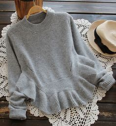 Oh, I like the sweater with flared hem. So cute!! It is easy matching with jeans or skirt. Go for it at Cupshe.com !