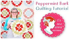 How to Make the Peppermint Bark Quilt Block by It's Sew Emma