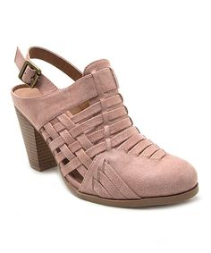 5641c2ba22 Loving this Qupid Dusty Pink Nixon Slingback Mule on #zulily! #zulilyfinds  Dusty Pink