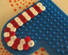 Candy cane hama beads would be small enough to put on gift tags or xmas cards