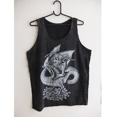Art Fashion Stone Wash Vest Tank Top M
