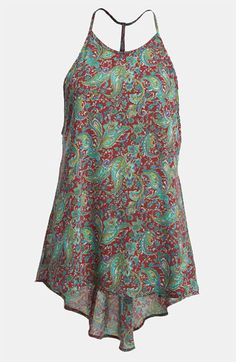 ASTR Paisley Racerback Tank available at Nordstrom
