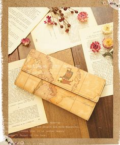 Rakuten: I looked for such a wallet. The old world map which found in Europe in a motif. Refined wallet (impossibility) forest girl of adult that a feeling of leather antique is wonderful- Shopping Japanese products from Japan