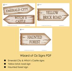 Wizard of Oz Party Ideas Wizard of Oz Signs