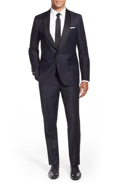 Strong Suit 'Morgan' Trim Fit Solid Wool Tuxedo available at #Nordstrom