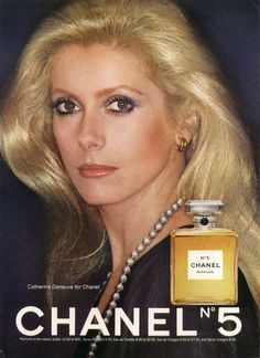 Vintage Ad: Chanel N° 5 & its most famous face, Catherine Deneuve. Catherine Deneuve, Perfume Ad, Chanel Perfume, Perfume Fragrance, Perfume Bottle, Fragrances, Catherine Belle, Christian Vadim, Estilo Coco Chanel
