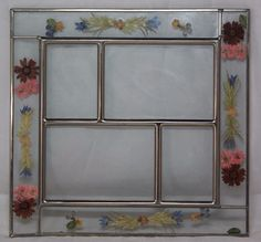 Stain Glass Pressed Flowers Photo Picture Frame Collage Glass Frame REPLACEMENT #unbranded