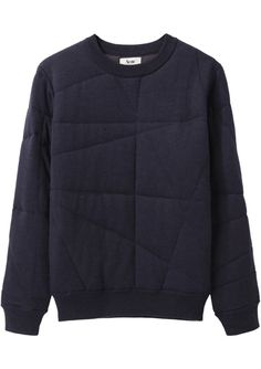 Acne Jumper - Stitch over a sweatshirt for a subtle pattern. Looks Style, Style Me, Style Minimaliste, Fashion Details, Fashion Design, Style Fashion, Mode Style, Mens Sweatshirts, Sportswear