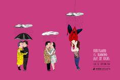 Campaña ilustrada genial para el festival de cine IndieLisboa'13:  http://titubear.com/index.php/blog/115-hollywood-se-esta-quedando-sin-ideas