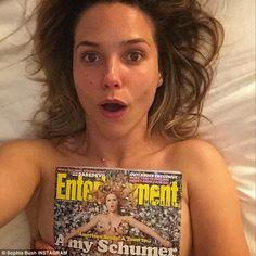 'call me' Sophia Bush recreated Amy Schumer's latest Entertainment Weekly cover in a tople...
