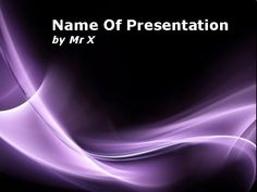 Abstract Purple Curvy Lines Powerpoint Template